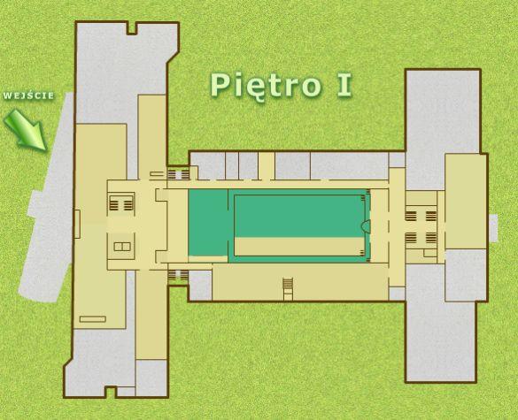 Czytelnia Główna (Lectorium) - zlokalizowana na pierwszym piętrze, w starej części biblioteki, dojście od windy długim korytarzem po lewej stronie budynku, za drzwiami na końcu korytarza proszę skierować się na prawo